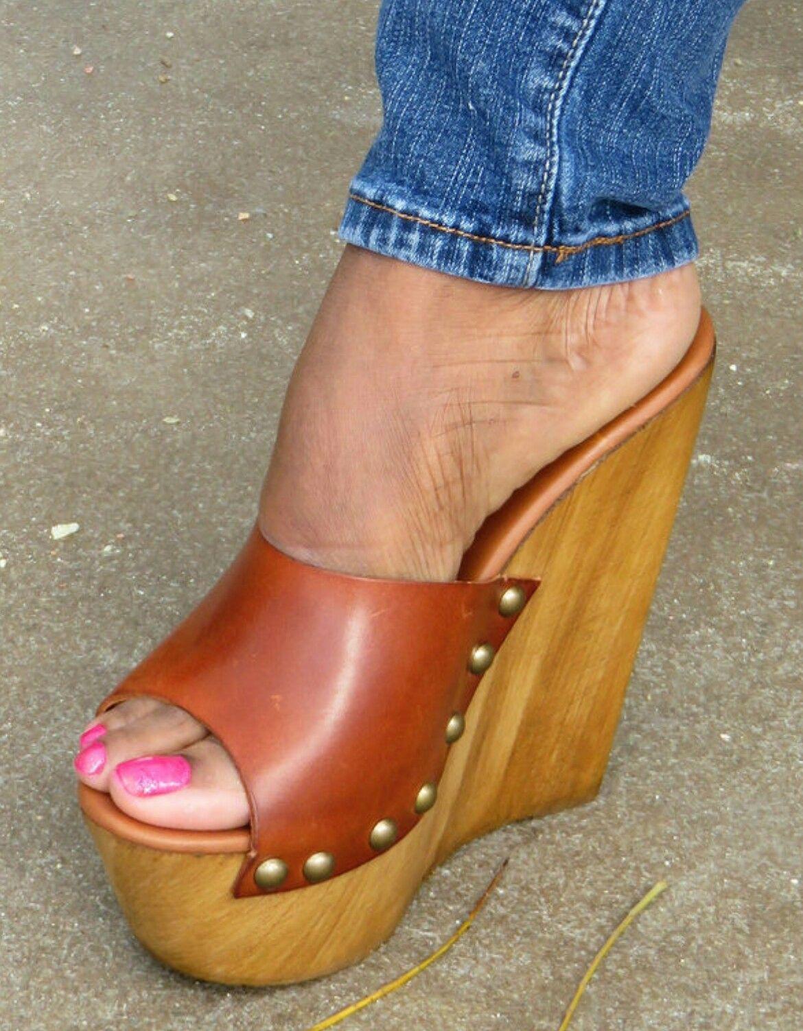 Été Nouveau Femmes Sandales Mode Chaussures Compensées dames blanches sexy Slipper en cuir,Orange,5