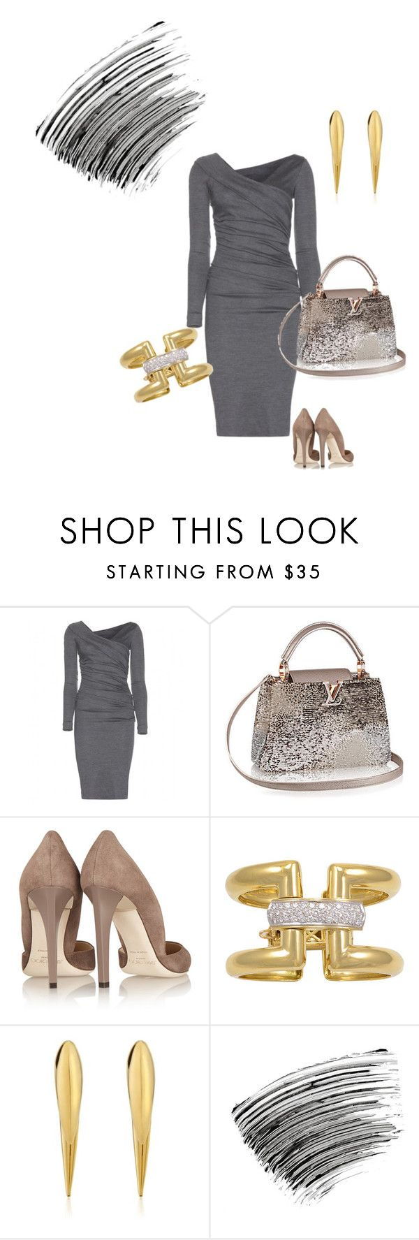 """""""Untitled #175"""" by grownupfashionfun ❤ liked on Polyvore featuring Diane Von Furstenberg, Jimmy Choo, Shaun Leane and Bobbi Brown Cosmetics"""