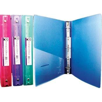 Amazon Com Bazic Glitter Poly 3 Ring Binder With Pocket 1 Inch Colors May Vary Office Products Binder Binder Pockets 3 Ring Binders