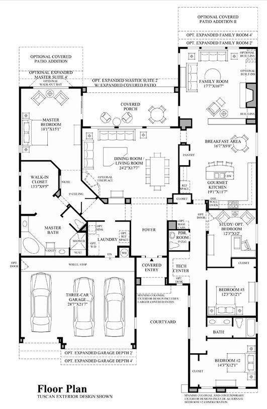 Windgate Ranch Scottsdale Desert Willow Collection Is An Outstanding New Home Community In Scottsdale House Layout Plans Family House Plans Dream House Plans