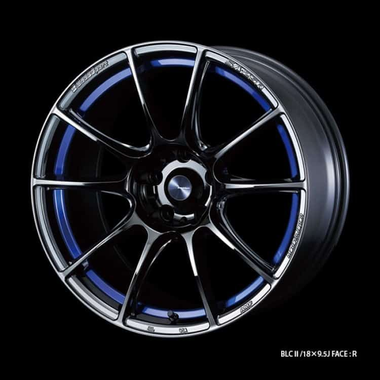 Weds Sport Sa25r Blc Ii Blue Light Chrome Ii Sold In Pairs 17 18 In 2020 Alloy Wheel Chrome Light Blue
