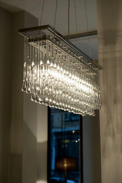 New Ochre Showroom Ochre Lighting Rectangular Chandelier Dining Room Light Fixtures