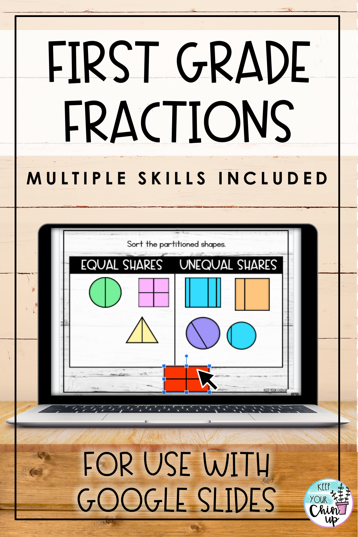 First Grade Fractions For Slides