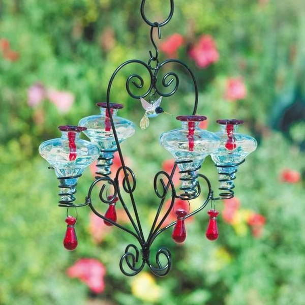 Chandelier Hummingbird Feeder Glass Hummingbird Feeders Humming Bird Feeders Bird Feeders