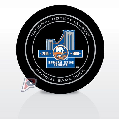 New York Islanders Official Game Hockey Puck with Holder