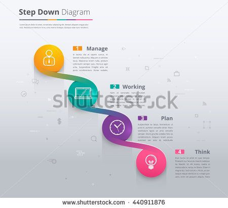 Simple Stair Infographic Diagram. Chart And Icon Sample. Step Down