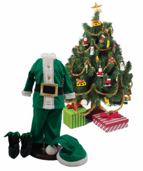 """Night Before Christmas Costume Pajama Doll Clothing Outfit & Christmas Tree Set, Clothes & Accessories for 18"""" Girl Dolls"""