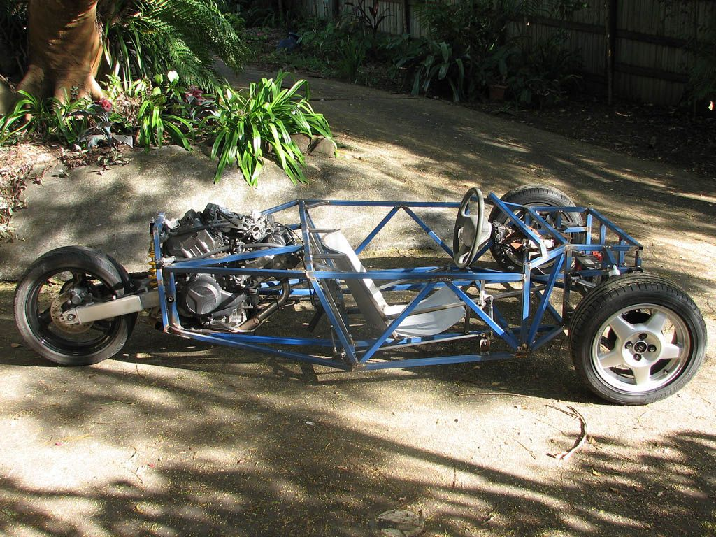 Build A 3 Wheel Car Reverse Trike Motorcycle Frame Designs