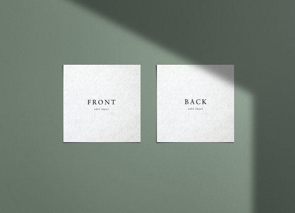 square embossed business card mockup с изображениями