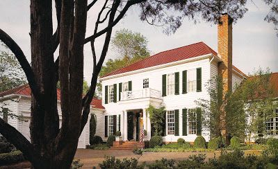 The Devoted Classicist White House With A Red Roof Red Roof House Red Roof White Exterior Houses