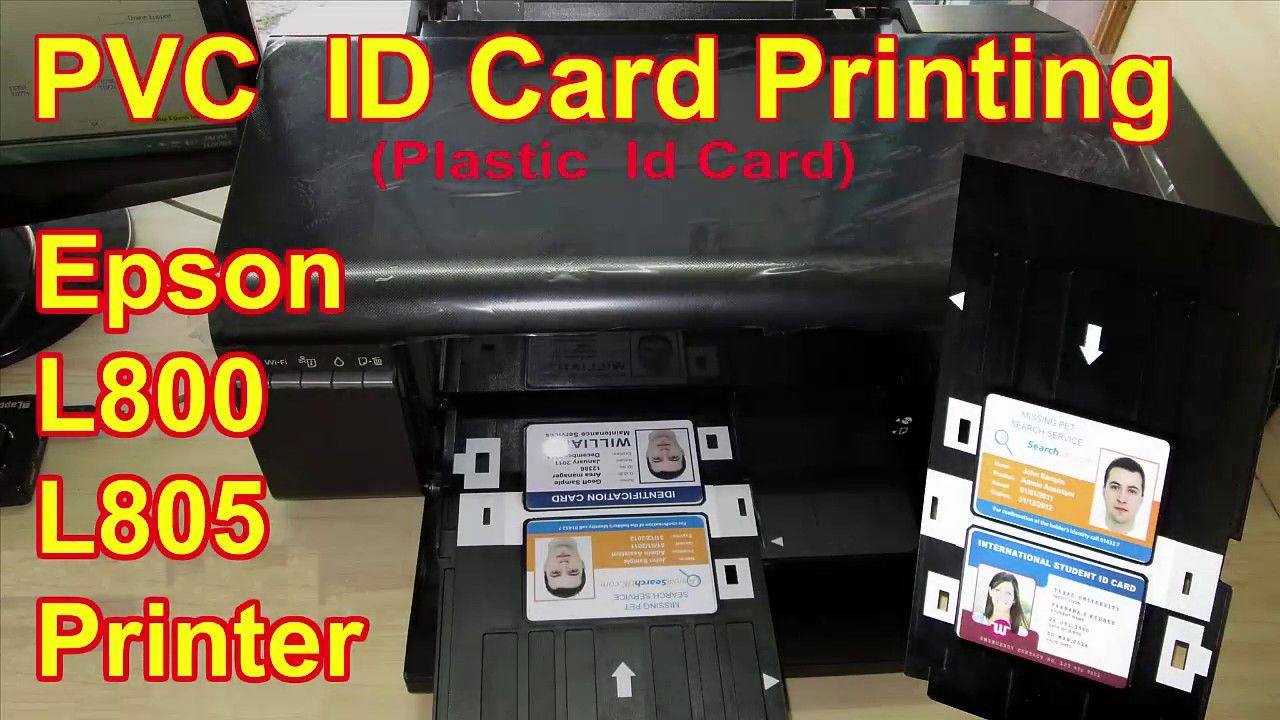 Epson L800 and L805 Printer PVC ID Card Plastic Id Card