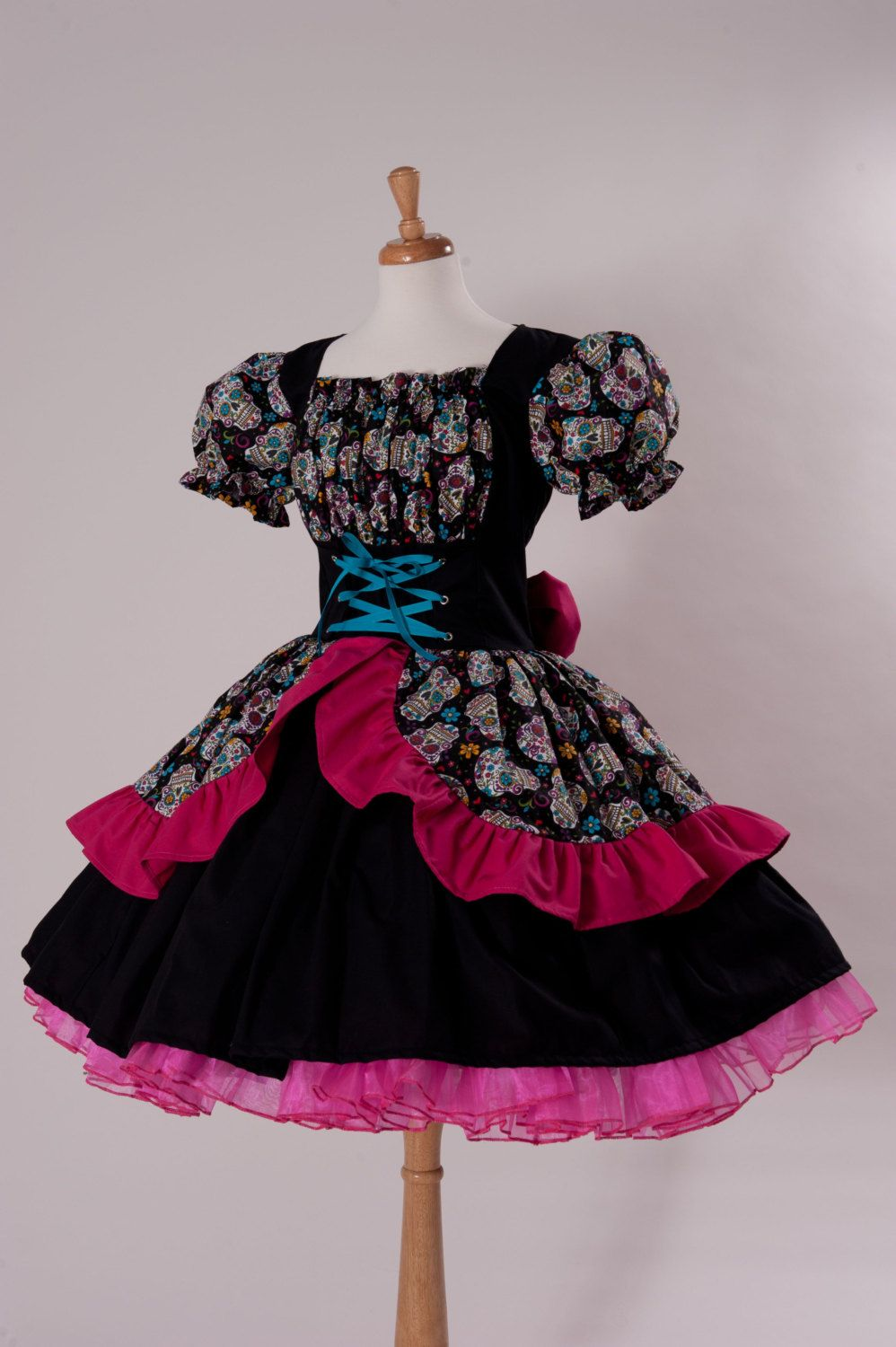 Day Of The Dead Dress Cinco De Mayo Costume Sugar Skulls