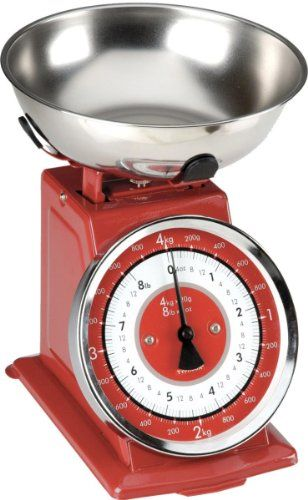 Buy Typhoon Retro Red Stainless Steel Kitchen Scale