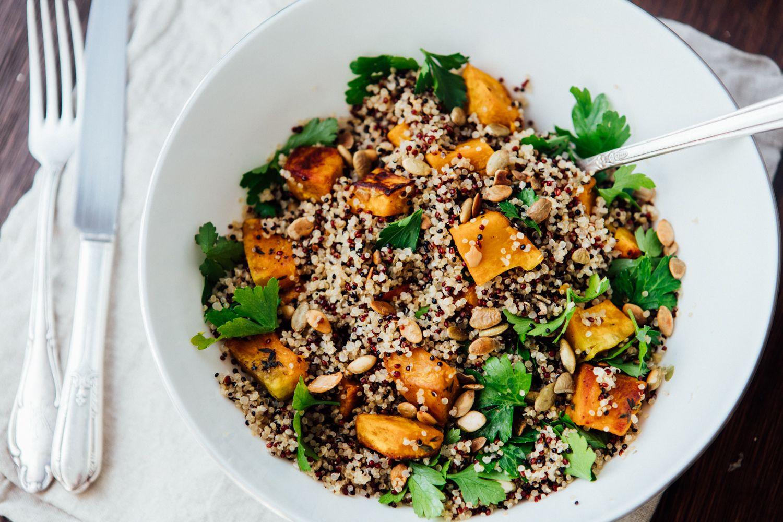 Salada de Quinoa com Abóbora Assada