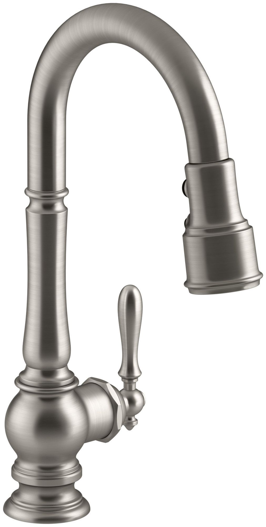 Artifacts Single-Hole Kitchen Sink Faucet with Pull-Down Spout and ...