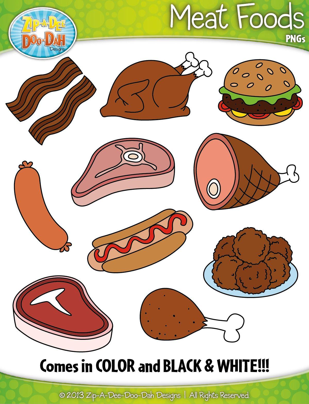 Meat Foods Clipart Zip A Dee Doo Dah Designs
