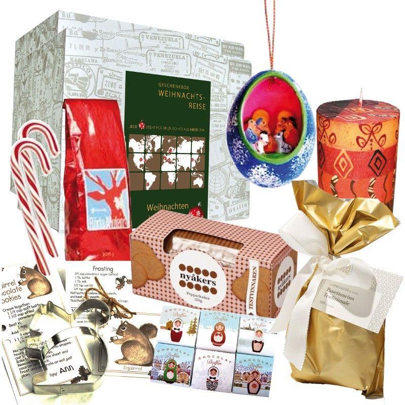 weihnachtsbox around the world als geschenk f r weltenbummler geschenkideen pinterest. Black Bedroom Furniture Sets. Home Design Ideas