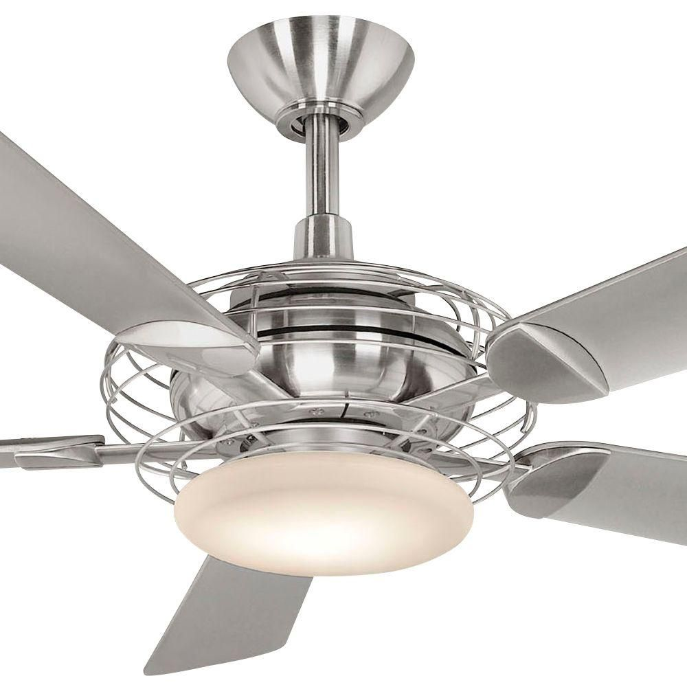 Hampton bay vercelli 52 in indoor brushed steel ceiling fan with hampton bay vercelli 52 in brushed steel ceiling fan aloadofball Choice Image