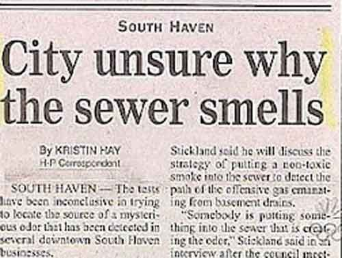City Unsure Of Why The Sewer Smells Funny Headlines Funny