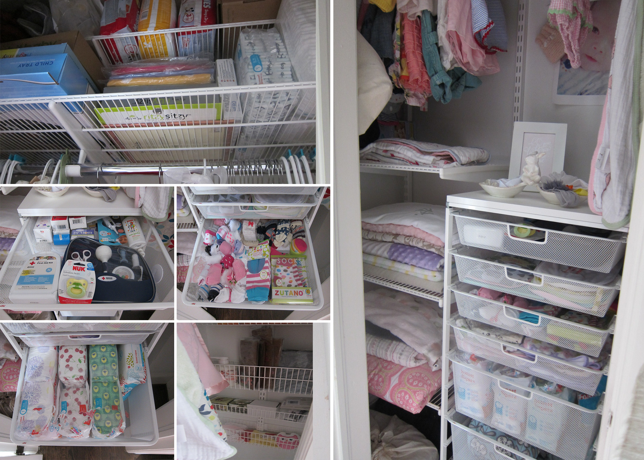 Organizing A Tiny Odd Shaped Closet For A Baby Nursery Or