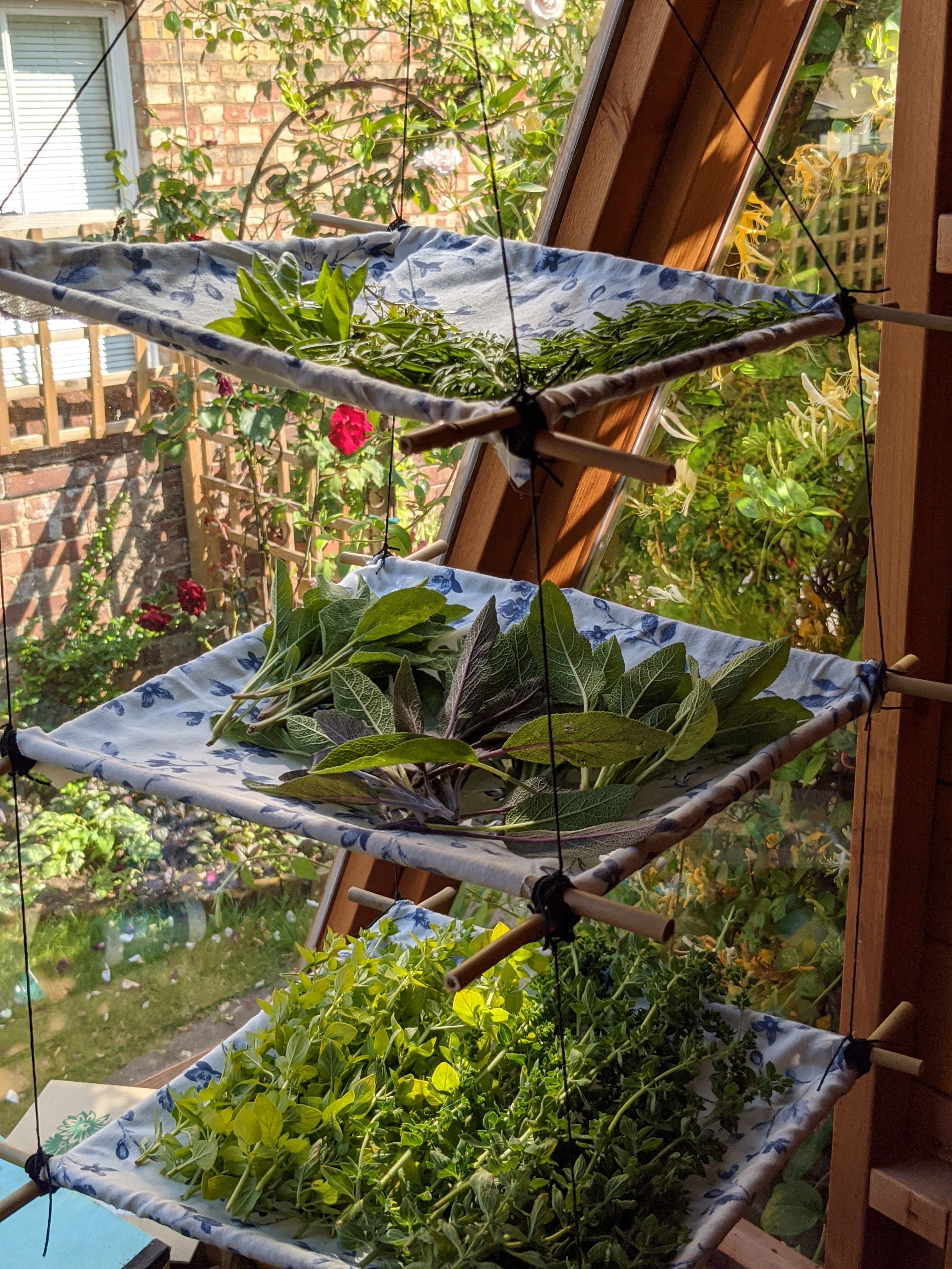 Diy herb drying rack interior design crafts herb drying