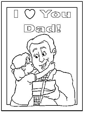 Fathers day coloring pages and tracer pages