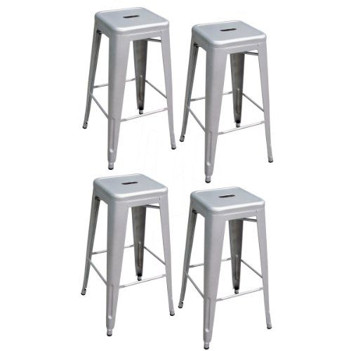 Fabulous Pin By Tammy Miller On 19Th Hole Metal Bar Stools Silver Machost Co Dining Chair Design Ideas Machostcouk