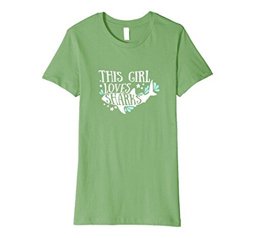 Women's This Girl Loves Sharks T-Shirt Small Grass This G...