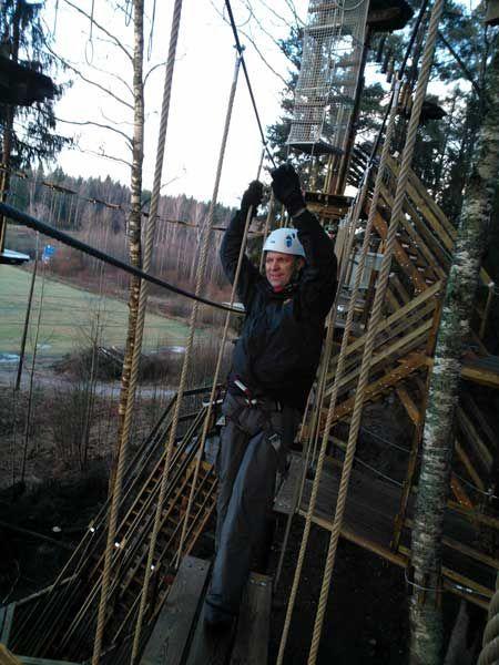 Seikkailupuisto Huippu, sininen rata, Huippu tree top Adventure, blue course, Hochseilgarten Huippu, blaue Route