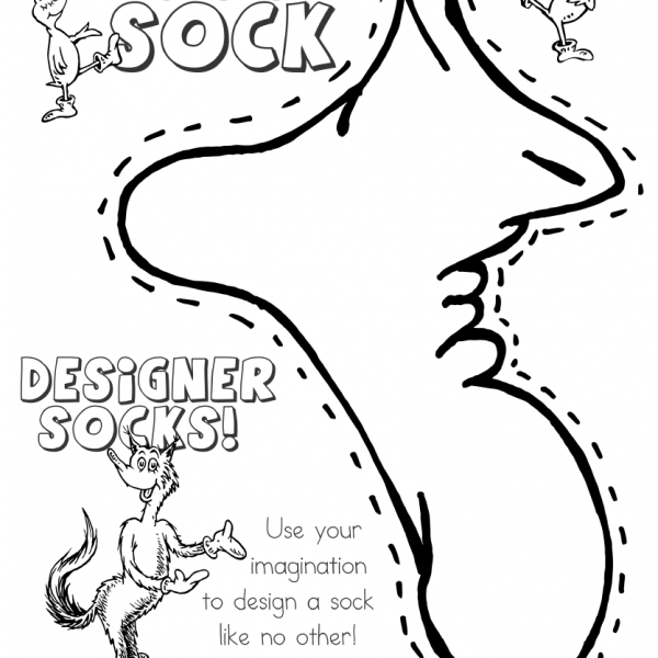 Fox in Socks by Dr Seuss Coloring Pages Designer Socks