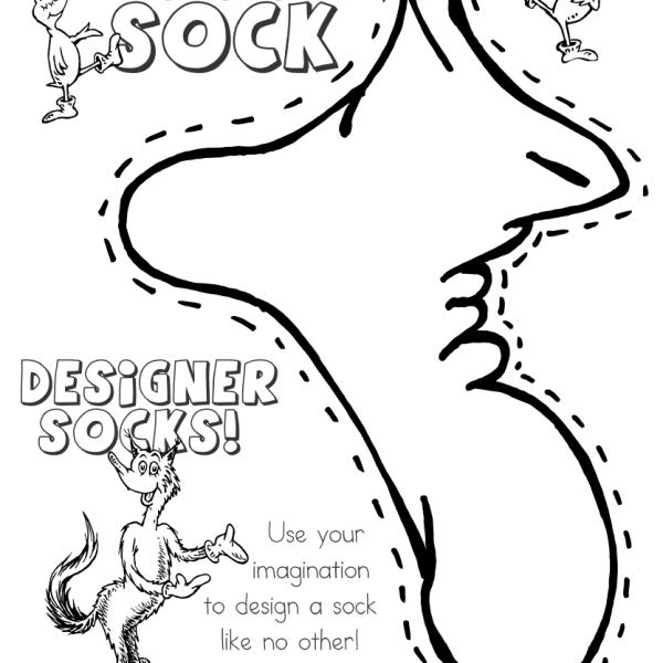 fox in socksdr seuss coloring pages designer socks