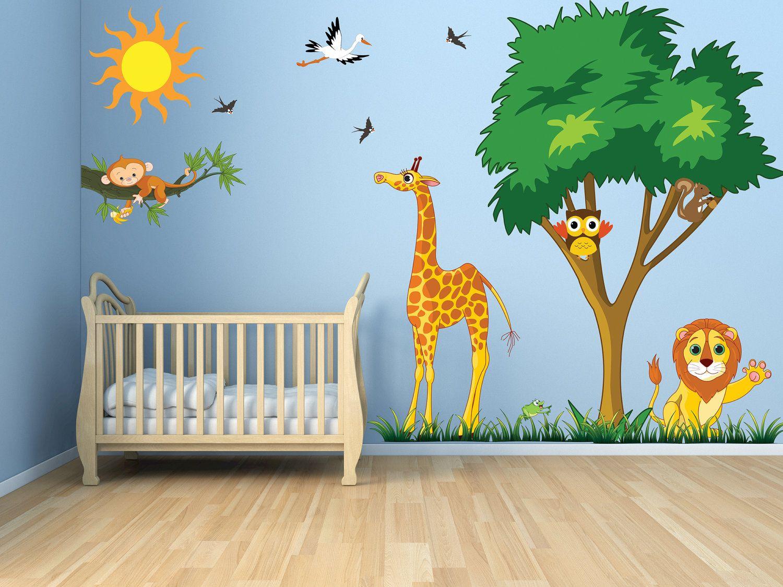 Shel Silverstein Wall Decal: Wall Decals:Tree, Branches, Grass, Owls, Animals, Giraffe