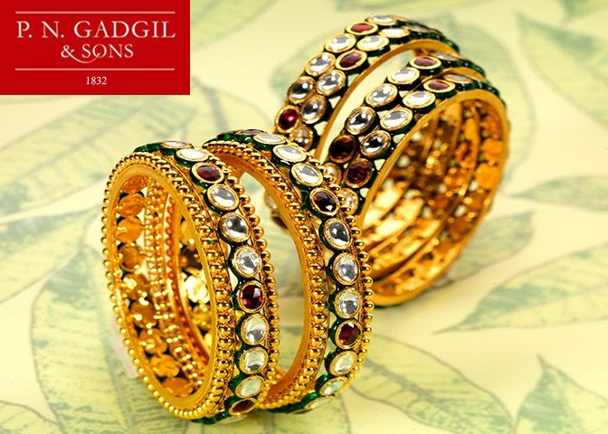 Gold bangle designs P N Gadgil & sons PNG Pinterest