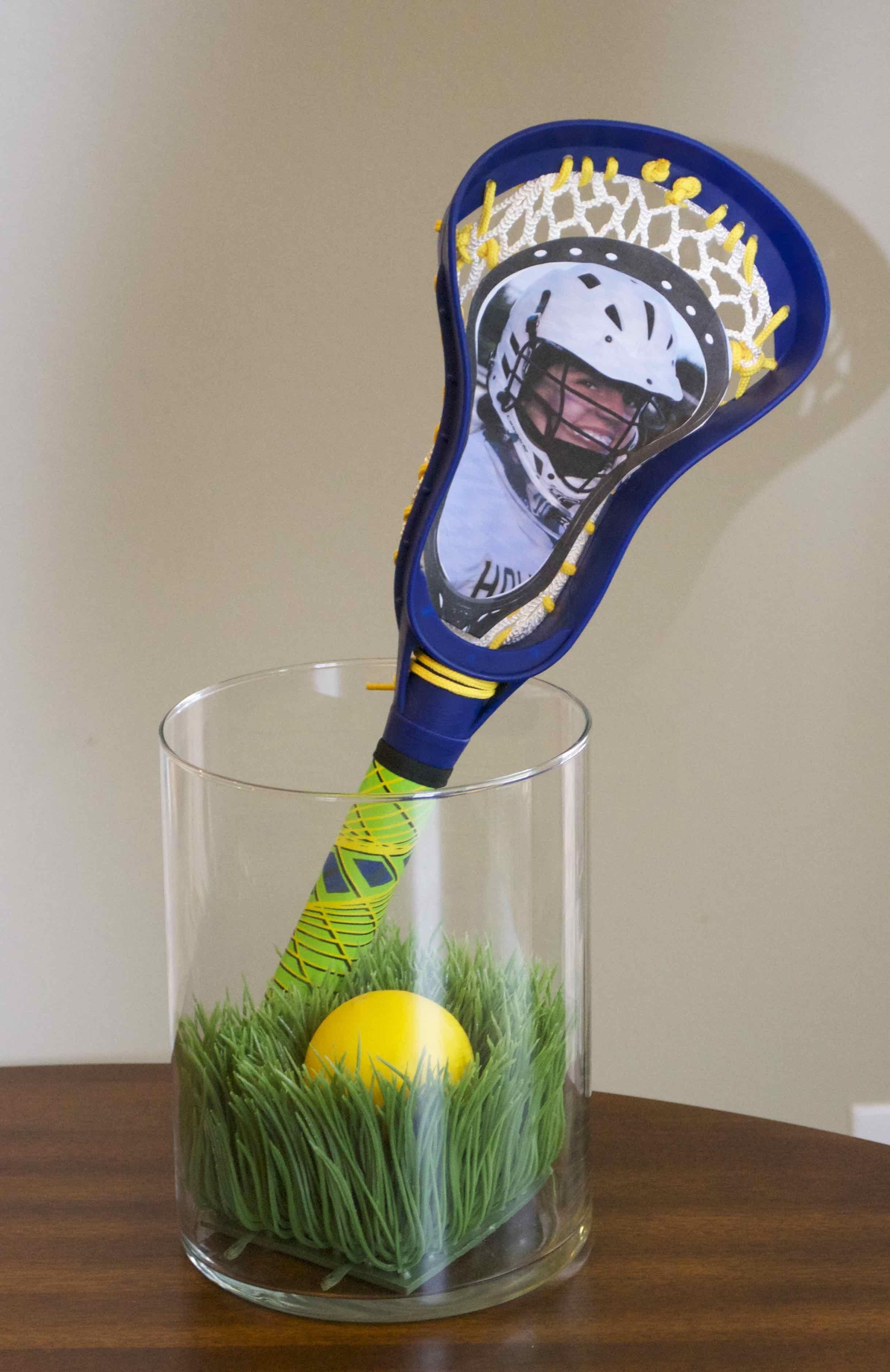 Lax Banquet Centerpiece, Artifical Grass, Lacrosse Ball, Pool Lacrosse Stick,