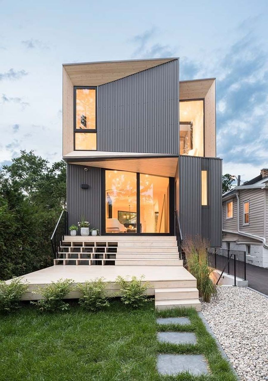33 Stunning Small House Design Ideas Magzhouse In 2020 Contemporary House Exterior House Exterior Modern Minimalist House