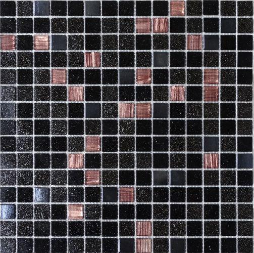 pâtes de verre Elena personnalisé noire, noir métal et carreaux - Salle De Bains Nantes