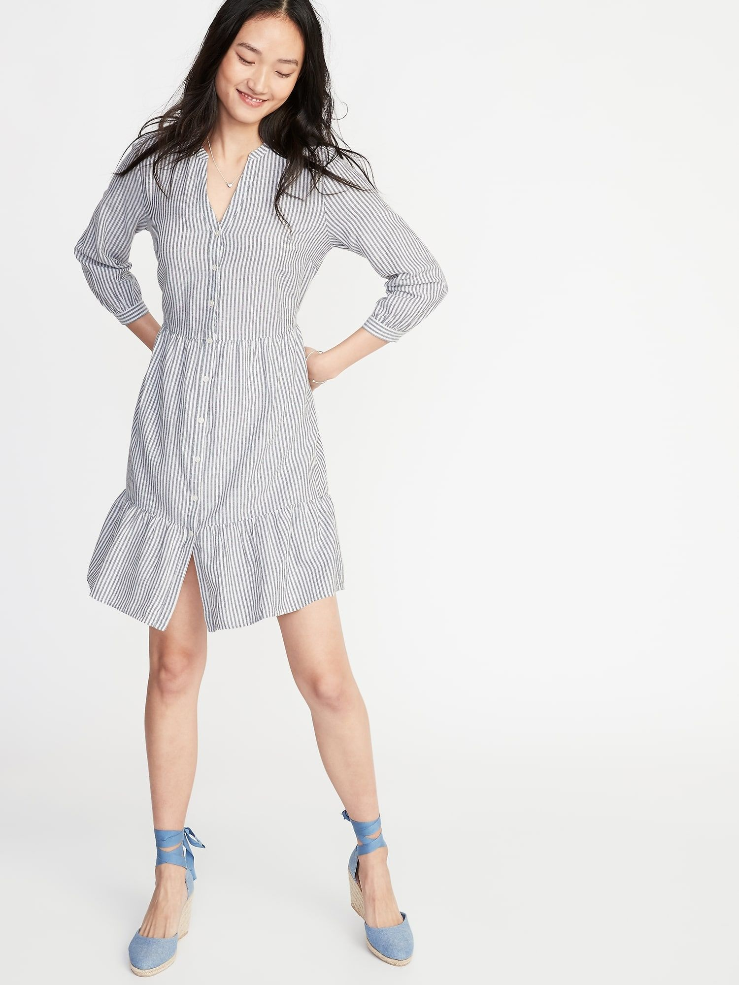 Steady Old Navy Waist Defined Sleeveless Blue Romper Small Rayon Shorts Small A Great Variety Of Models Clothing, Shoes & Accessories