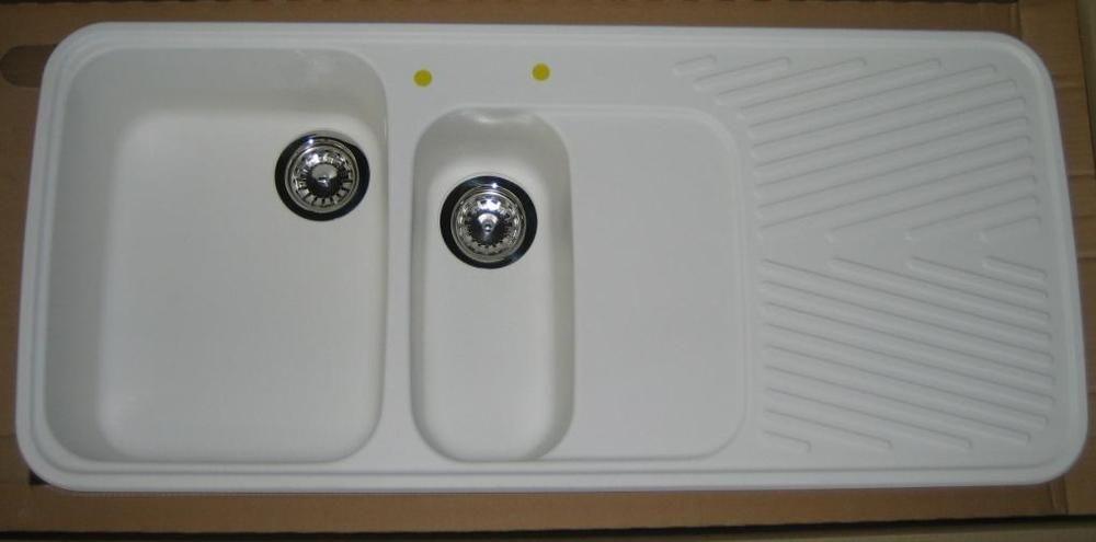 Schock Granit Spule Einbauspule 112x50 Cm Weiss Grau Beige