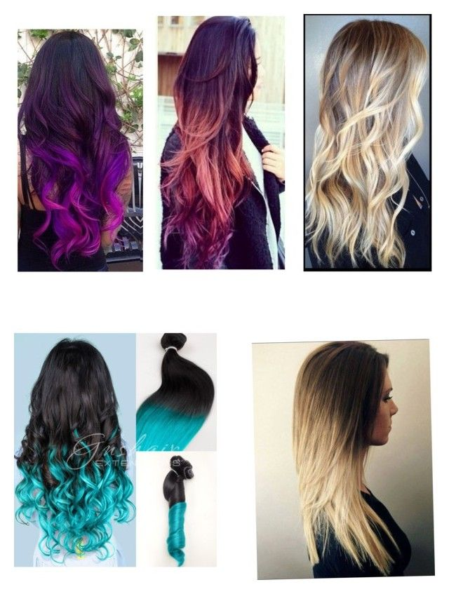 """""""5 ombré hairstyles I wouldn't mind having"""" by kit-kat-katya ❤ liked on Polyvore featuring beauty"""