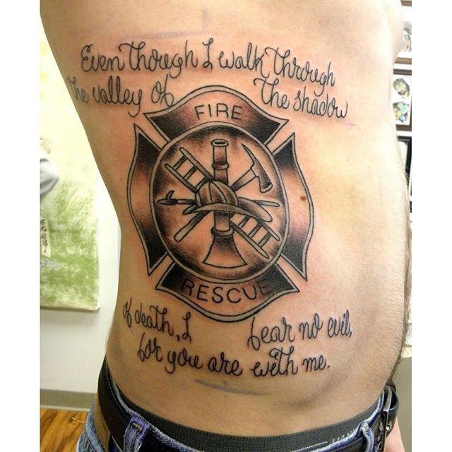 Firefighter Tattoo Bible Verse Tattoo Pinterest Firefighter