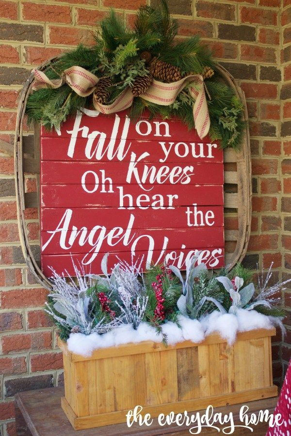 Welcome to the 2015 Southern Home Fall Tour Pinterest Tobacco - outdoor angel christmas decorations