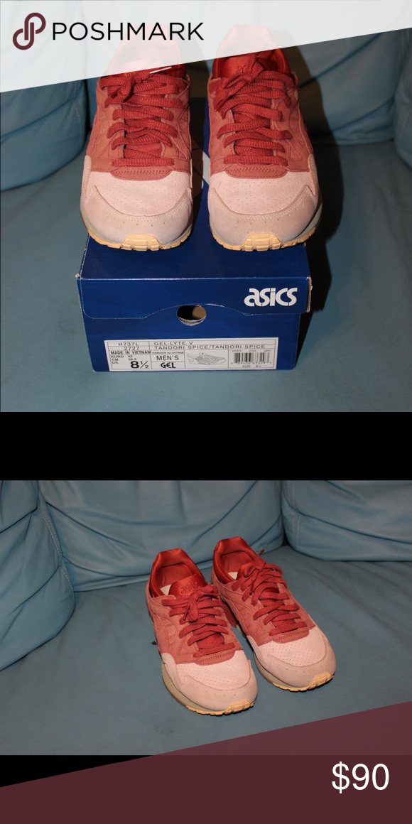 hot sales a6e6d 1dcfa ASICS gel lyte v ASICS gel lyte v in red and salmon color ...