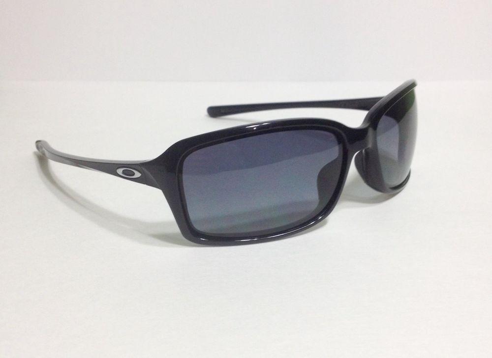 dc11708ce5e  Oakley  Dispute  Polarized  Sunglasses  Authentic Oakley Dispute OO9233-05  Polished Black Frame w  Polarized Grey Lens Sunglasses