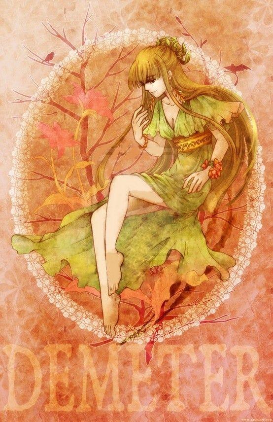 Greek Goddess Demeter Demeter Is The Goddess Of The Harvest