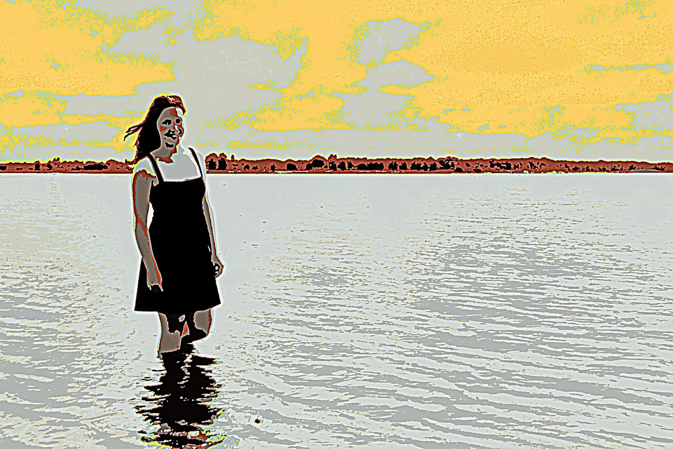 Lady in the Lake, de lady is mijn dochter :-) Mijn kind in kunst, zucht...