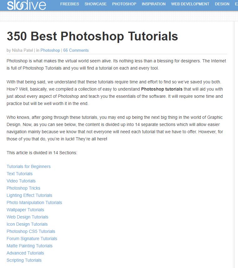 350 Free Photoshop Tutorials Photoshop Tutorial Photoshop