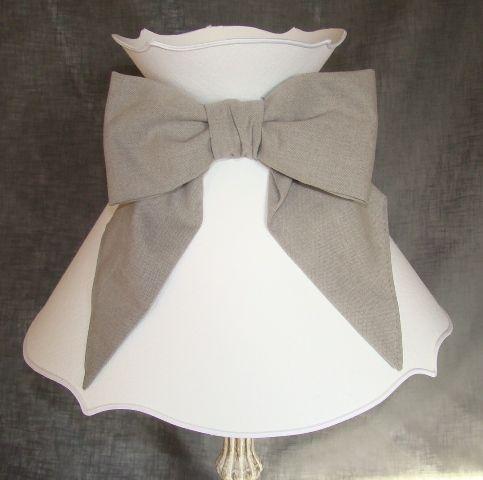abat-jour, lampshade, décoration, objet de décoration, blanc, nœud