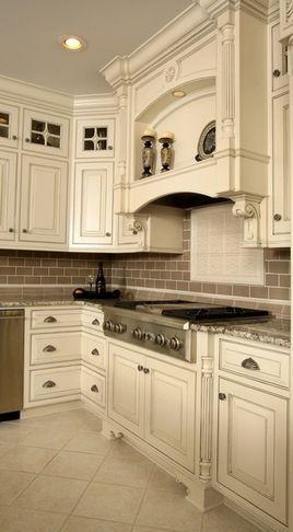 Image result for photo kitchen light tile white cabinet ...