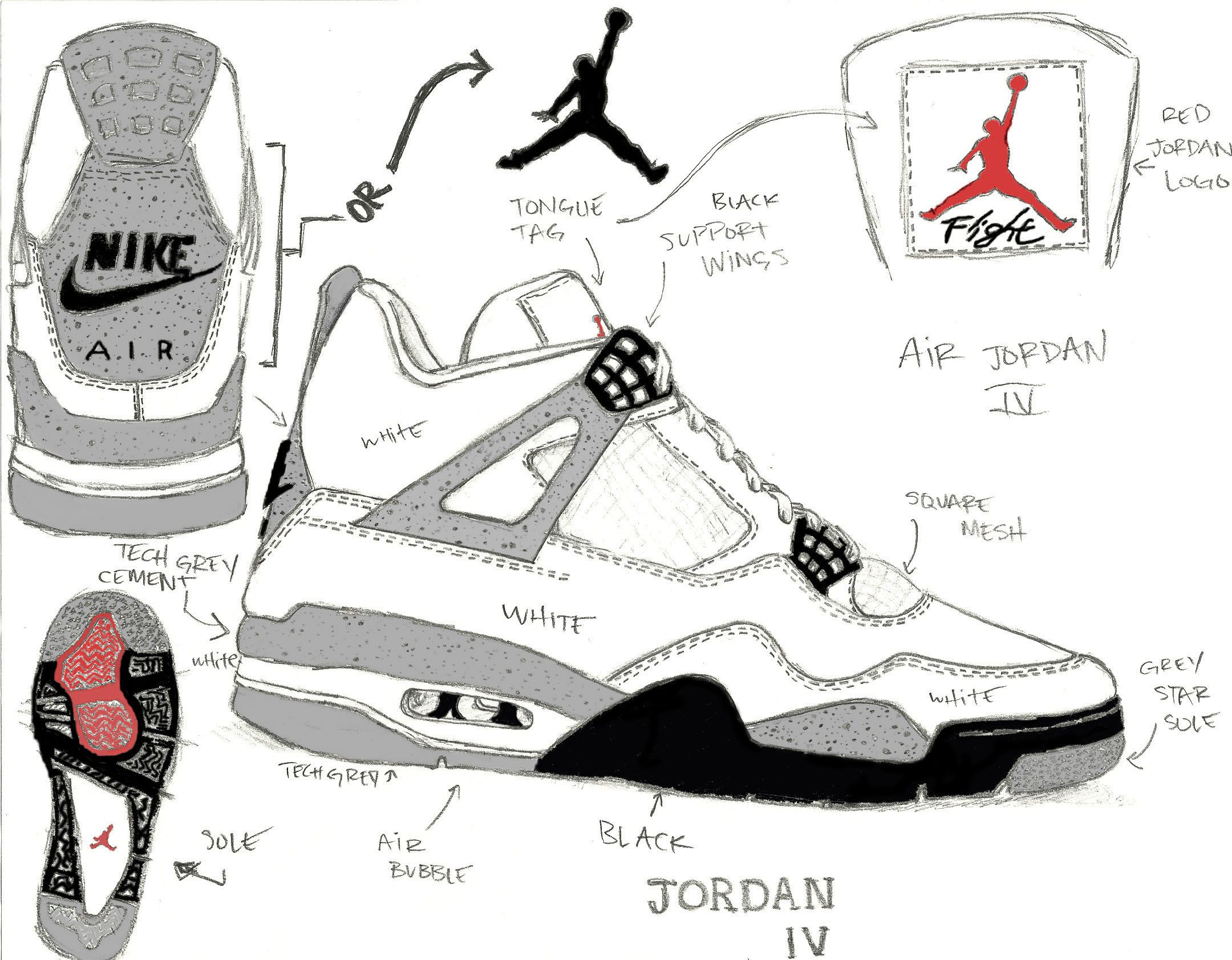 Sole Origins – Air Jordan Retro Cement IV\'s | Jordan | Pinterest ...