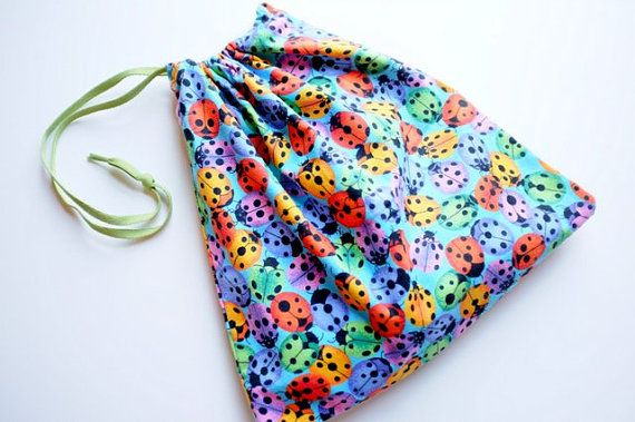 Busy bag for toddler.  Ladybug theme.  Quiet, independent activities. on Etsy, $15.00